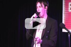 STAGE TUBE: SPIDER-MAN's Reeve Carney Sings 'The Boy Falls from the Sky' at Broadway Sessions
