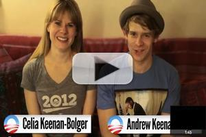 STAGE TUBE: Celia and Andrew Keenan-Bolger Promote Broadway for Obama