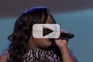STAGE TUBE: GLEE's Amber Riley Sings National Anthem at DNC!