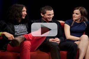 VIDEO: Watson, Miller, Lerman  Chat PERKS OF BEING A WALLFLOWER on 'MTV First'