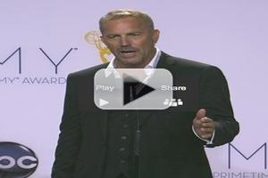 VIDEO: Kevin Costner Chats Emmy Award for Lead Actor in a Miniseries