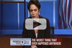 VIDEO: SNL Mocks Maddow, MSNBC Coverage of Pres. Debates, 10/6
