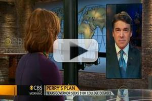 VIDEO: Gov. Rick Perry Visits CBS THIS MORNING