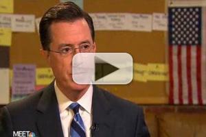 VIDEO: Stephen Colbert Visits NBC's MEET THE PRESS