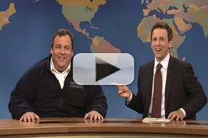 VIDEO CLIP: NJ Gov. Chris Christie Appears on SNL's 'Weekend Update'