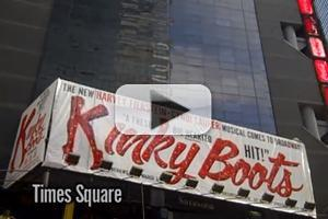 STAGE TUBE: KINKY BOOTS Billboard Goes Up in Times Square!