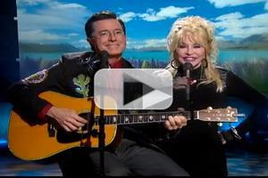 VIDEO: Dolly Parton, Stephen Colbert Perform Duet on THE COLBERT REPORT