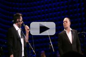 STAGE TUBE: Russell Crowe & Hugh Jackman Sing 'The Confrontation' from Les Miserables LIVE at Joe's Pub!