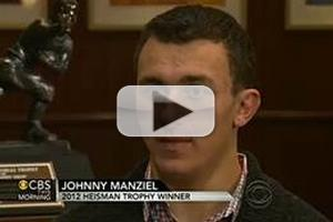 VIDEO: Heisman Trophy Winner Johnny Manziel Visits CBS THIS MORNING