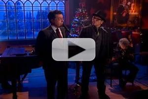 VIDEO: THE COLBERT REPORT Celebrates the Holiday With Elvis Costello, Diana Krall