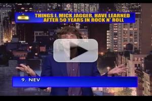 VIDEO: Mick Jagger Reads 'Top Ten' List on DAVID LETTERMAN