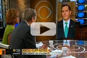 VIDEO: Sen. Jim DeMint Discusses Fiscal Cliff on CBS THIS MORNING