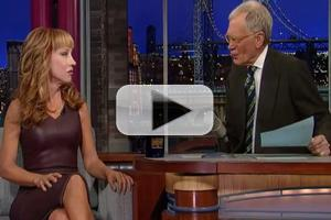 VIDEO: Kathy Griffin Talks NYE Hosting Gig with Anderson Cooper on LETTERMAN