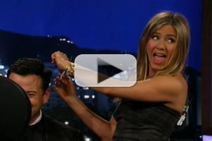 VIDEO: JIMMY KIMMEL Gets Haircut from Guest Jennifer Aniston