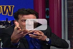 VIDEO: Charlie Sheen Chats 'Two & A Half Men' Return on LETTERMAN