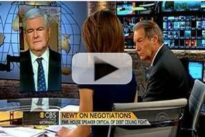 VIDEO: Newt Gingrich Visits CBS THIS MORNING