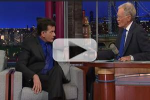VIDEO: Charlie Sheen Talks a Potential  TWO AND A HALF MEN Return on LETTERMAN