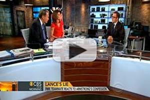 VIDEO: Former Armstrong Teammate Vaughters Visits CBS THIS MORNING