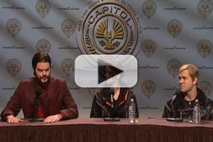 VIDEO: SNL's Hunger Games Press Conference Parody