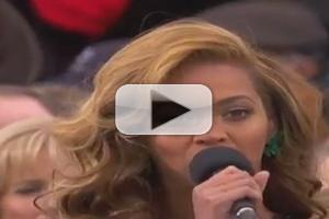 VIDEO: Beyonce Sings National Anthem at 2013 INAUGURATION