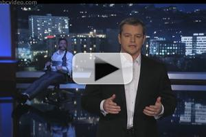 VIDEO: Matt Damon Hijacks Last Night's JIMMY KIMMEL LIVE!