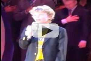 STAGE TUBE: MARY POPPINS' Tyler Merna Performs the National Anthem at the Staples Center in LA