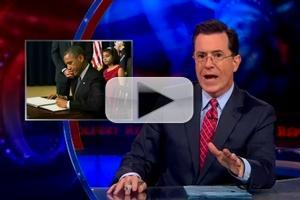 VIDEO: Obama's Gun 'Grab-O-Rama' on Last Night's COLBERT REPORT