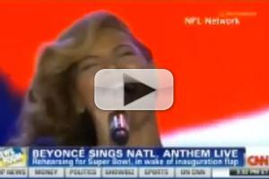VIDEO: What Lip-Sync? Beyoncé Belts Live National Anthem at SUPER BOWL Press Conference