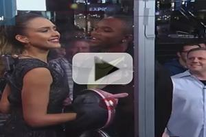 VIDEO: Jessica Alba Runs a 'Celebrity Kissing Booth' on JIMMY KIMMEL
