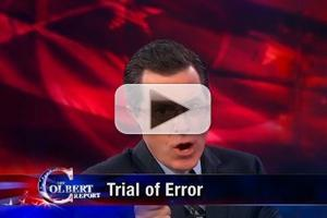 VIDEO: Trial of Error on Last Night's THE COLBERT REPORT on Comedy Central