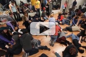 STAGE TUBE: Inside ART=AMMO Gun Control Flash Mob!