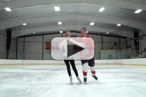 STAGE TUBE: Margarett Perry and Greg Hartz Skate for Kitchen Theatre's DANCE THE NIGHT AWAY