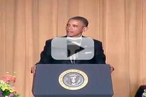 VIDEO: President Obama Performs Comedy Routine at White House Correspondents Dinner