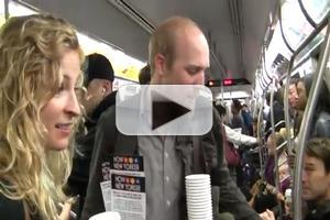 STAGE TUBE: HOW TO BE A NEW YORKER Stars Serve Coffee on the Subway
