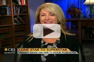 VIDEO: Sen. Wendy Davis Talks Abortion Bill on CBS THIS MORNING
