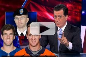 VIDEO: Stephen Compares 'Manning Brothers' on COLBERT