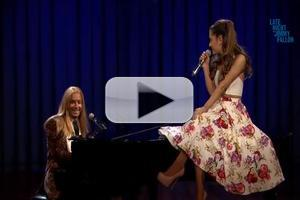 STAGE TUBE: Watch Jimmy Fallon and Ariana Grande Sing Broadway Versions of Hip Hop Songs!