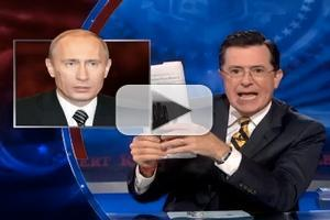 VIDEO: Vladimir Putin Steals from Stephen's Facebook on COLBERT