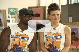 VIDEO: Idina Menzel, Taye Diggs Chat 'Camp BroaderWay' on TODAY