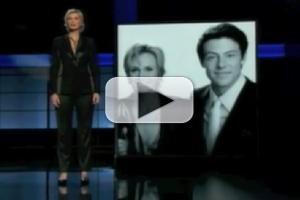 STAGE TUBE: Jane Lynch Honors Cory Monteith at EMMY AWARDS
