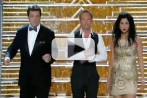 STAGE TUBE: Neil Patrick Harris' EMMY Mid-Show Number with Nathan Fillion, Sarah Silverman