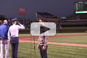 STAGE TUBE: Josh Young Sings National Anthem at Wrigley Field!