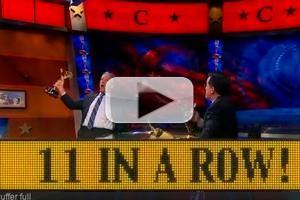 VIDEO: Jon Stewart Congratulates Stephen on Emmy Win on COLBERT