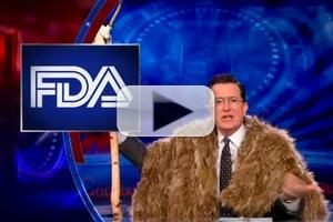 VIDEO: Stephen Replaces FDA During Gov't Shut Down on COLBERT