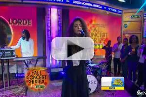 VIDEO: Lorde Performs Hit Single 'Royals' on GMA