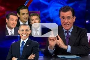 VIDEO: Stephen Celebrates 1-Week Anniversary of Gov't Shutdown on COLBERT
