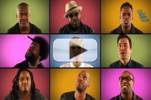 VIDEO: Miley Cyrus, Jimmy Fallon & The Roots Sing A Cappella 'We Can't Stop'