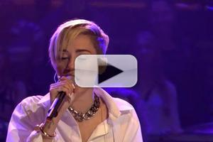 VIDEO: Miley Cyrus Performs 'Wrecking Ball' on FALLON