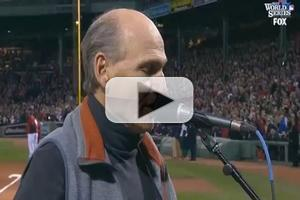 Video: JAMES TAYLOR Flubs National Anthem at World Series