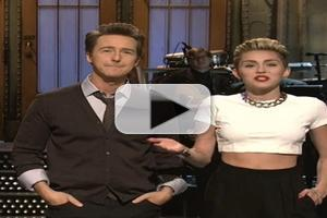 VIDEO: Miley Cyrus Announces 2014 Tour on SNL